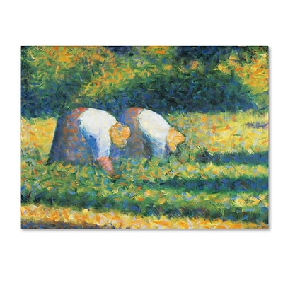 Trademark Georges Seurat Farmers at Work 1882 Gallery-Wrapped Canvas Art, 35 x 47