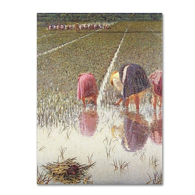 Trademark Angelo Morbelli For Eighty Pennies Gallery-Wrapped Canvas Art, 35 x 47