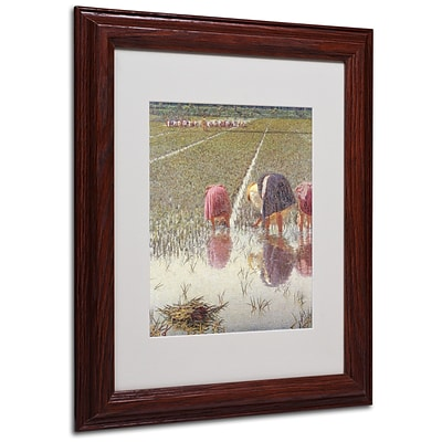 Trademark Angelo Morbelli For Eighty Pennies Art, White Matte With wood Frame, 11 x 14