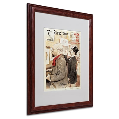 Trademark Poster of Paul Verlaine and Jean Moreas Art, White Matte W/Wood Frame, 16 x 20