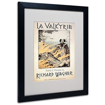 Trademark Richard Wagner Poster of the Valkyrie Art, White Matte With Black Frame, 16 x 20