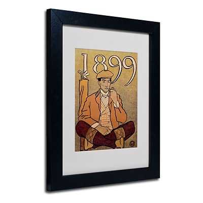 Trademark Edward Penfield Golf Calendar 1899 Art, White Matte With Black Frame, 11 x 14