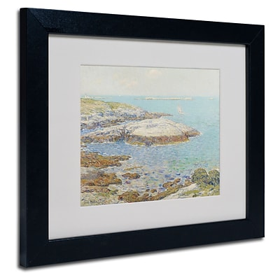 Trademark Childe Hassam Isles of Shoals 1899 Art, White Matte With Black Frame, 11 x 14