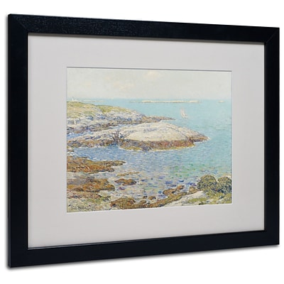 Trademark Childe Hassam Isles of Shoals 1899 Art, White Matte With Black Frame, 16 x 20