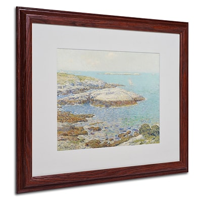 Trademark Childe Hassam Isles of Shoals 1899 Art, White Matte With Wood Frame, 16 x 20