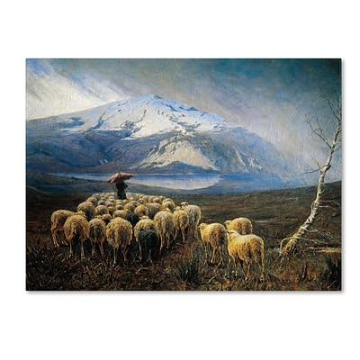 Trademark Achilles Tominetti Mountain Landscape with Rain Gallery-Wrapped Canvas Art, 18 x 24