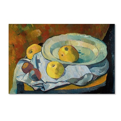 Trademark Paul Serusier Plate of Apples 1891 Gallery-Wrapped Canvas Art, 30 x 47
