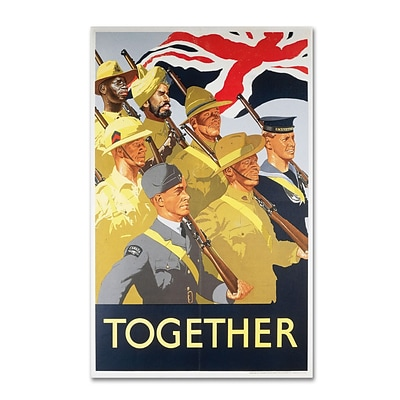 Trademark Second World War Together Propaganda.. Gallery-Wrapped Canvas Art, 16 x 24