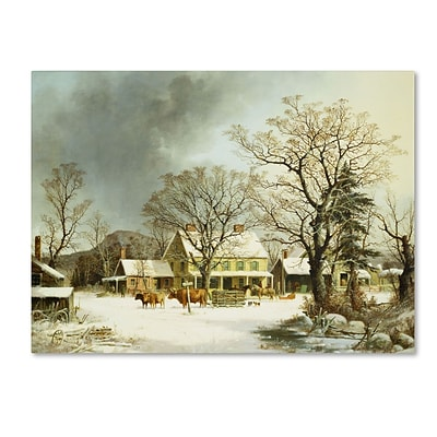 Trademark George Durie Seven Miles to Salem 1863 Gallery-Wrapped Canvas Art, 35 x 47