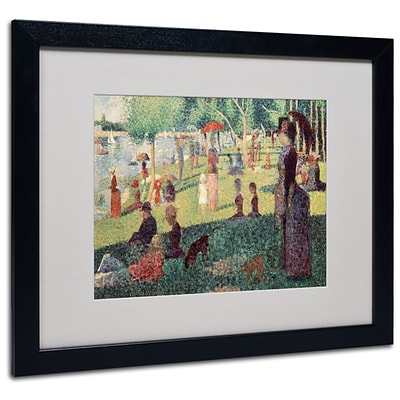 Trademark Georges Seurat Study on La Grande Jatte Art, White Matte With Black Frame, 16 x 20