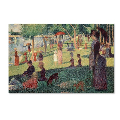 Trademark Georges Seurat Study on La Grande Jatte Gallery-Wrapped Canvas Art, 22 x 32