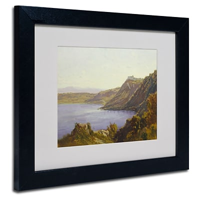 Trademark Antoine Joinville The Albano Lake Art, White Matte With Black Frame, 11 x 14