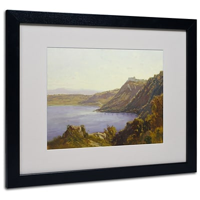 Trademark Antoine Joinville The Albano Lake Art, White Matte With Black Frame, 16 x 20