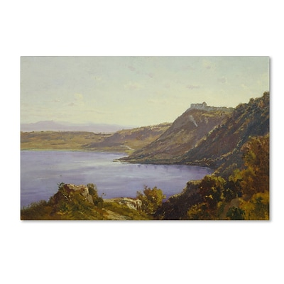Trademark Antoine Joinville The Albano Lake Gallery-Wrapped Canvas Art, 30 x 47