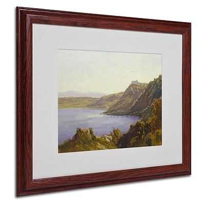 Trademark Antoine Joinville The Albano Lake Art, White Matte With wood Frame, 16 x 20