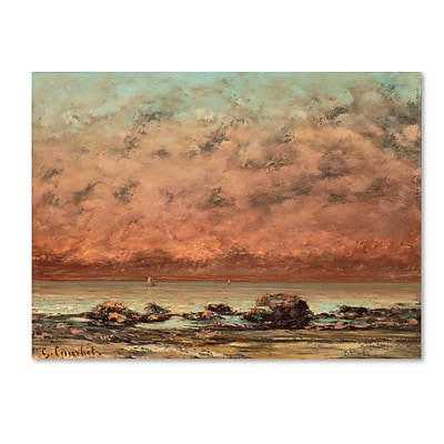 Trademark Gustave Courbet The Black Rocks at Trouville Gallery-Wrapped Canvas Art, 18 x 24
