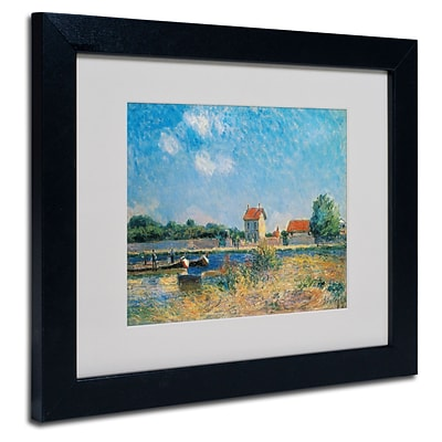 Trademark Alfred Sisley The Loing Canal Art, White Matte With Black Frame, 11 x 14