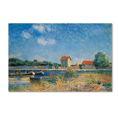 Trademark Alfred Sisley The Loing Canal at Saint-Mammes Gallery-Wrapped Canvas Art, 12 x 19