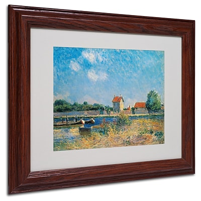 Trademark Alfred Sisley The Loing Canal Art, White Matte With wood Frame, 11 x 14