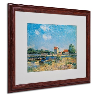 Trademark Alfred Sisley The Loing Canal Art, White Matte With wood Frame, 16 x 20