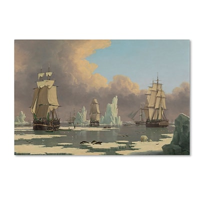 Trademark John Ward The Northern Whale Fishery Gallery-Wrapped Canvas Art, 30 x 47
