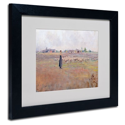 Trademark Federico Rossano The Peace of Evening Art, White Matte W/Black Frame, 11 x 14