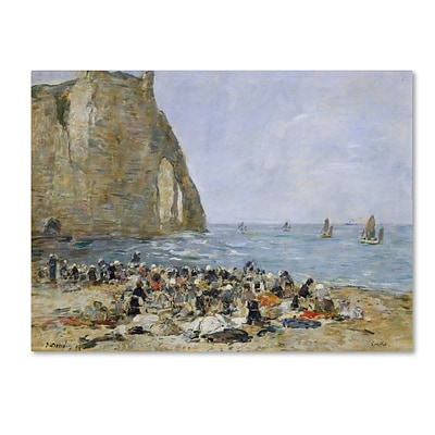 Trademark Eugene Boudin Washerwomen on the Beach Gallery-Wrapped Canvas Art, 24 x 32