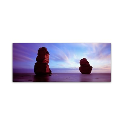 Trademark David Evans Apostles Dusk Gallery-Wrapped Canvas Art, 8 x 24