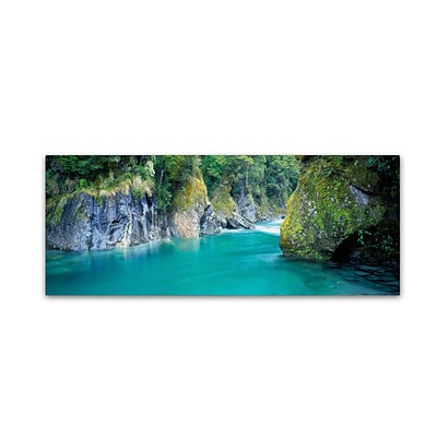 Trademark David Evans Blue Pools-NZ Gallery-Wrapped Canvas Art, 16 x 47