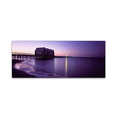 Trademark David Evans Busselton Jetty Gallery-Wrapped Canvas Art, 6 x 19
