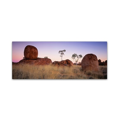 Trademark David Evans Devils Marbles & Ghost Gums Gallery-Wrapped Canvas Art, 10 x 32