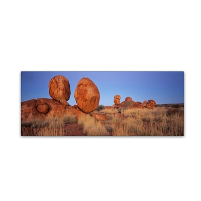 Trademark David Evans Devils Marbles Gallery-Wrapped Canvas Art, 16 x 47