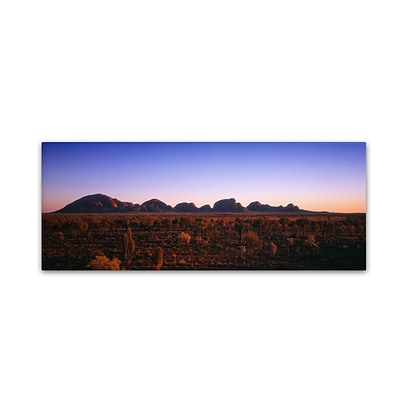 Trademark David Evans Kata Tjuta Sunrise Gallery-Wrapped Canvas Art, 8 x 24