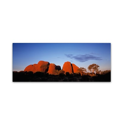 Trademark David Evans Kata Tjuta Gallery-Wrapped Canvas Art, 8 x 24