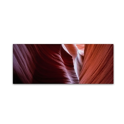 Trademark David Evans Layers of Time-Lower Antelope Canyon Gallery-Wrapped Canvas Art, 6 x 19