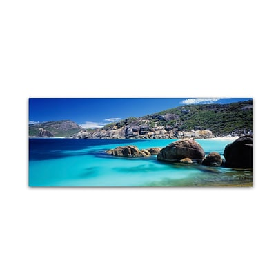 Trademark David Evans Little Hellfire Bay Gallery-Wrapped Canvas Art, 10 x 32