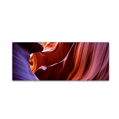 Trademark David Evans Lower Antelope Canyon Gallery-Wrapped Canvas Art, 8 x 24