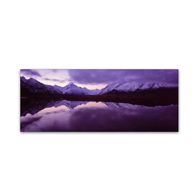 Trademark David Evans Mount Cook from Tasman River-NZ Gallery-Wrapped Canvas Art, 16 x 47