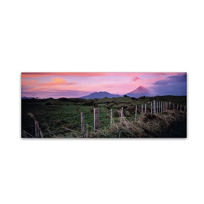 Trademark David Evans Mt Taranaki-NZ Gallery-Wrapped Canvas Art, 16 x 47