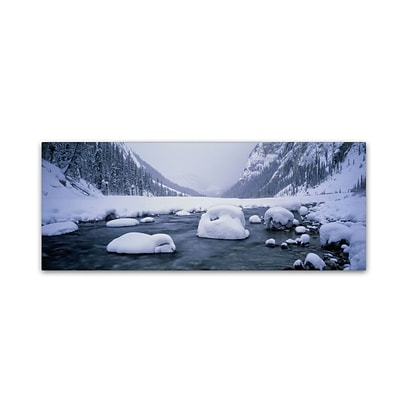 Trademark David Evans North Saskatchewan River-Rocky ... Gallery-Wrapped Canvas Art, 6 x 19