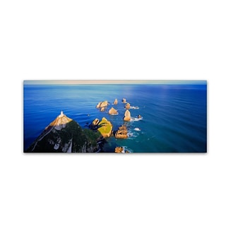 Trademark David Evans Nugget Point-NZ Gallery-Wrapped Canvas Art, 6 x 19