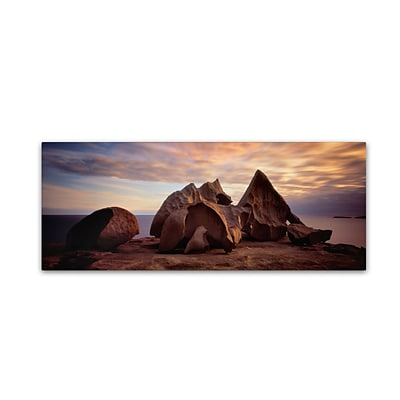 Trademark David Evans Remarkable Rocks-Kangaroo Island Gallery-Wrapped Canvas Art, 10 x 32