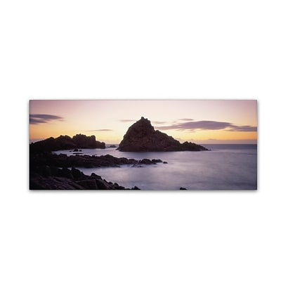 Trademark David Evans Sugarloaf Rock-WA Gallery-Wrapped Canvas Art, 6 x 19