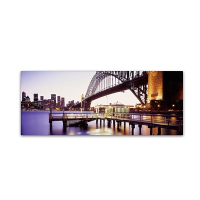 Trademark David Evans Sydney Harbour Gallery-Wrapped Canvas Art, 8 x 24