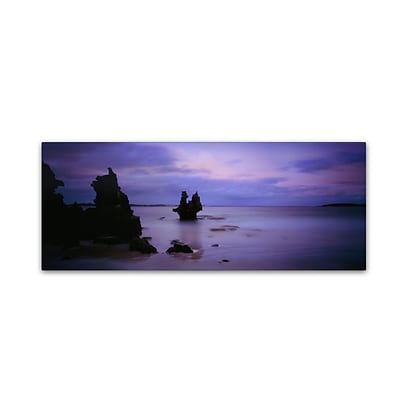 Trademark David Evans Vivonne Bay-Kangaroo Island Gallery-Wrapped Canvas Art, 8 x 24