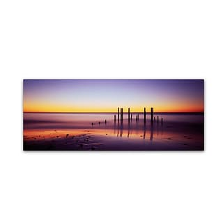 Trademark David Evans Willunga Glow Gallery-Wrapped Canvas Art, 6 x 19