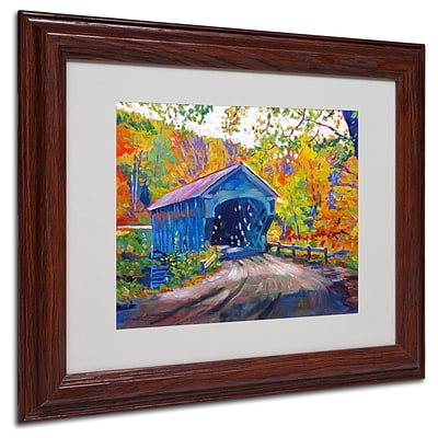Trademark David Lloyd Glover Fall Comes to Downer Art, White Matte W/Wood Frame, 11 x 14