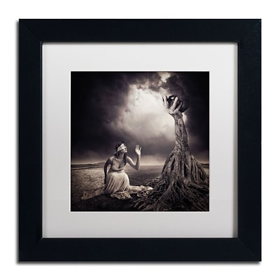 Trademark Erik Brede Is There Anybody Out There Art, White Matte W/Black Frame, 11 x 11