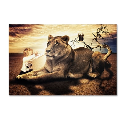 Trademark Erik Brede Lionheart Gallery-Wrapped Canvas Art, 12 x 19
