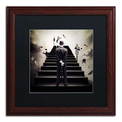 Trademark Erik Brede Waiting for the Green Light Art, Black Matte W/Wood Frame, 16 x 16